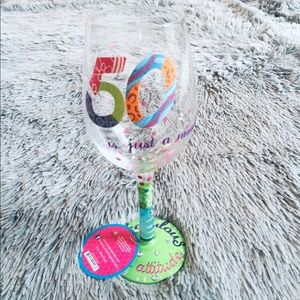 "Lolita Wine Glass ""50 is just a number"" 15oz NWT"